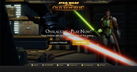 Star Wars The Old Republic Gameplay