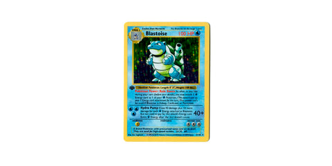 First Edition Shadowless Holographic Blastoise
