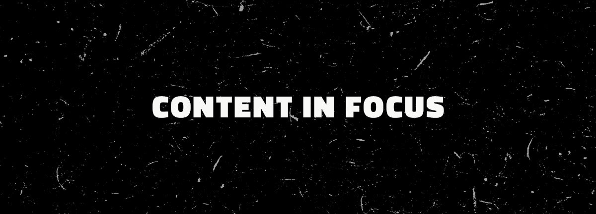 content in focus
