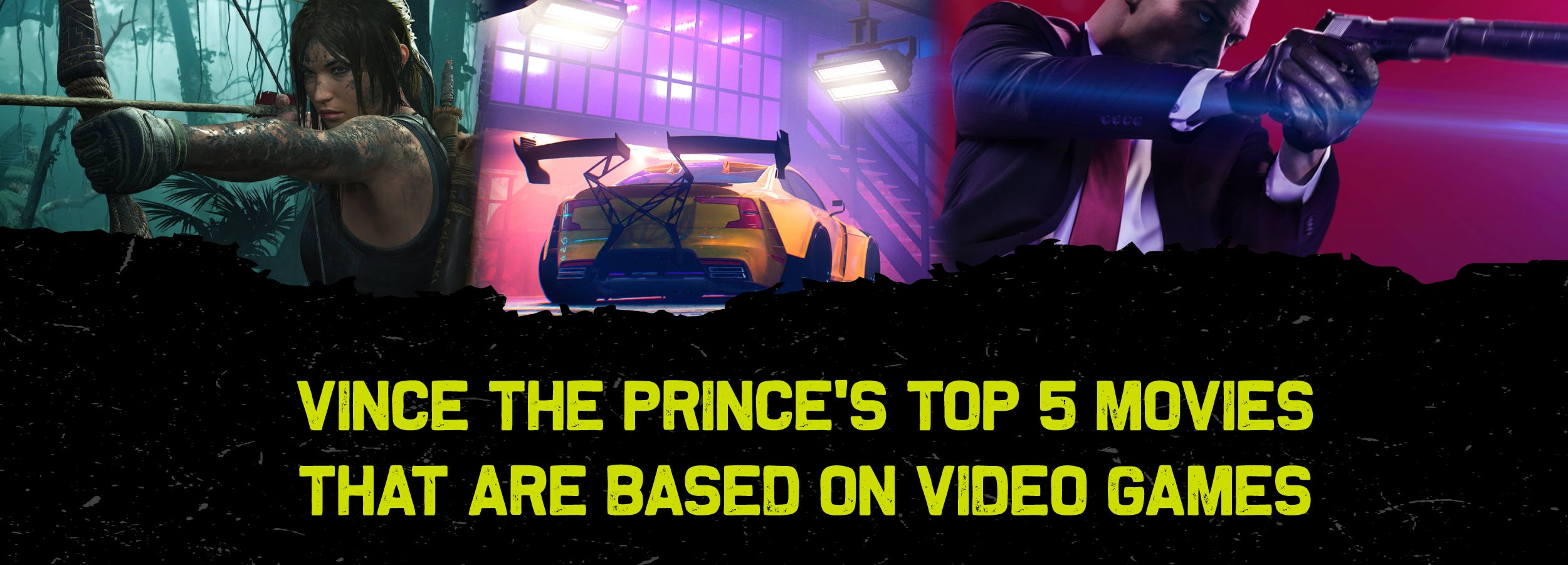 Top 5 video games based on movies