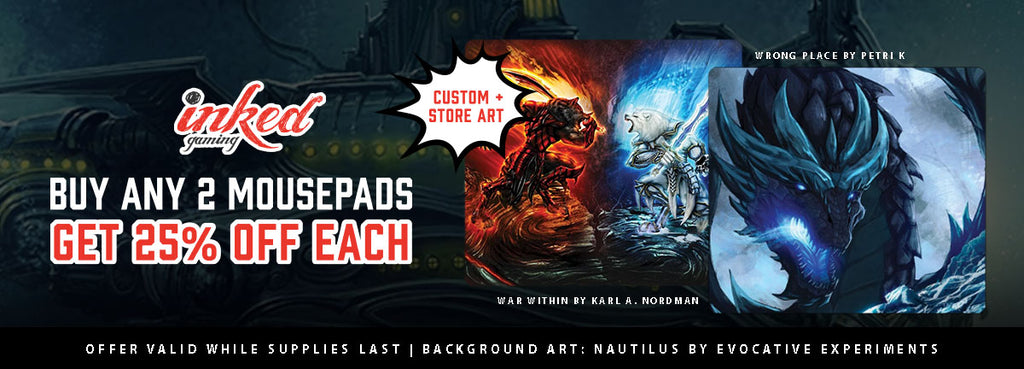 Flash Sale: Buy At Least 2 Mousepads, Receive 25% Off Each