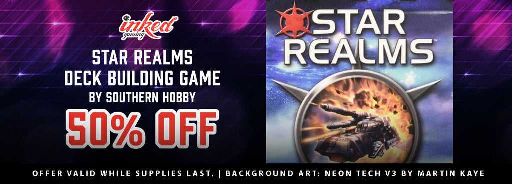 Flash Sale: 50% Off Start Realms Deck Building Game
