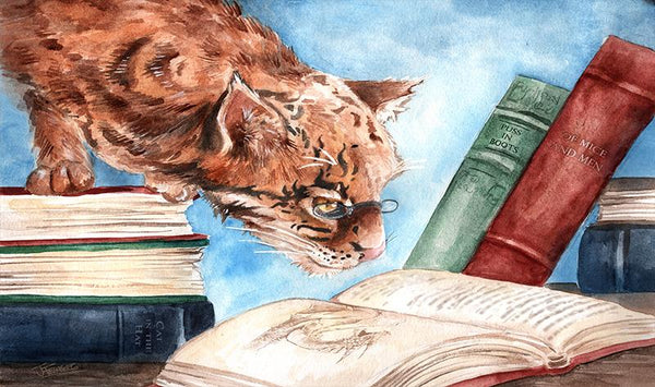 CAT READING by Jessica Feinberg