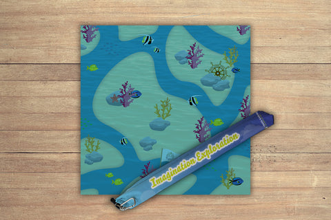 Underwater World Playmat Kit - Playmat And Free Mat Bag