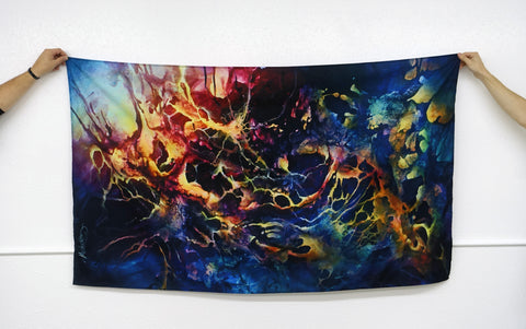 custom wall tapestry large inked gaming