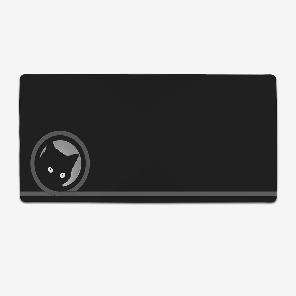 Lucky Black Cat Extended Mousepad
