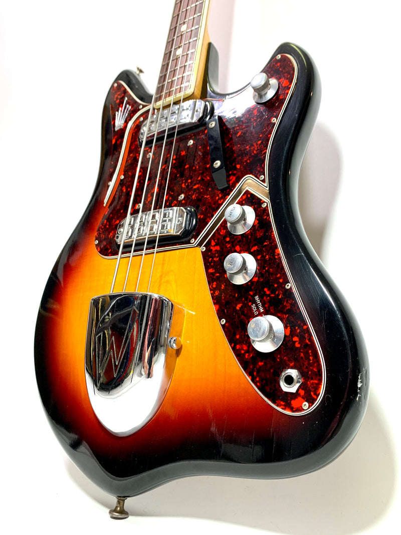 Welson (Vedette) Bass Sunburst 1960's