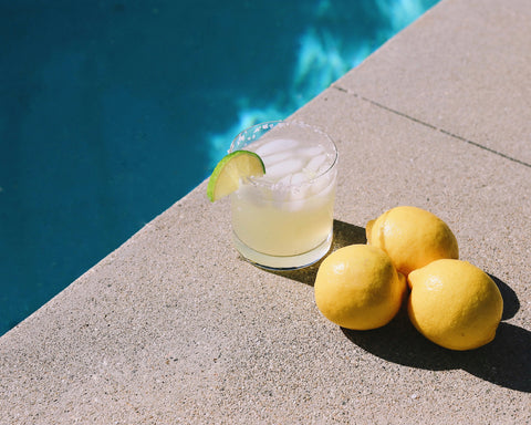cocktail making with swimming pool