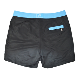 Jet Black George Mid Length Mens Swim Shorts