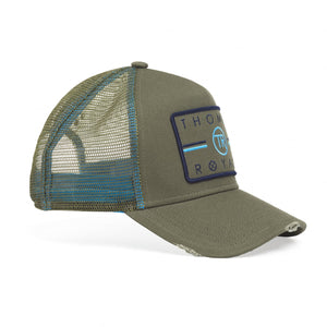 Distressed Khaki Trucker Cap