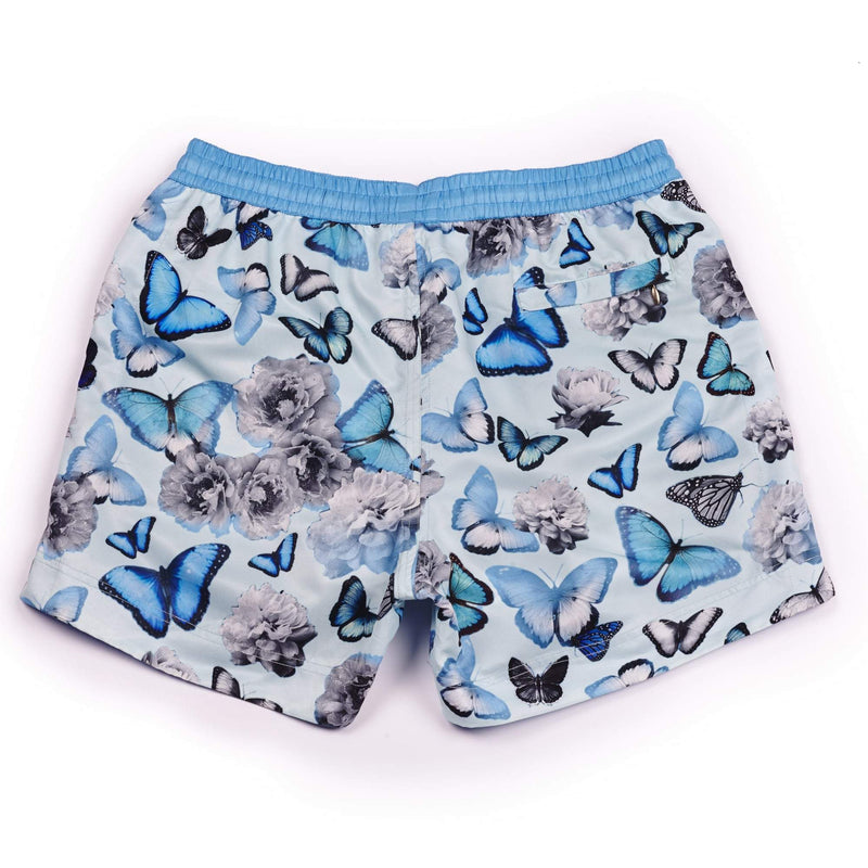 Our signature 'California' shorts featuring a butterfly and floral graphic design. The 'Luca' fit features our signature Thomas Royall blue waistband with a relaxed day to night fit.