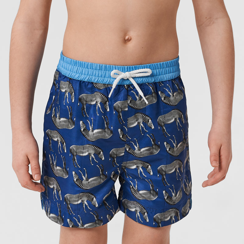 African Zebra Kids Swim Shorts