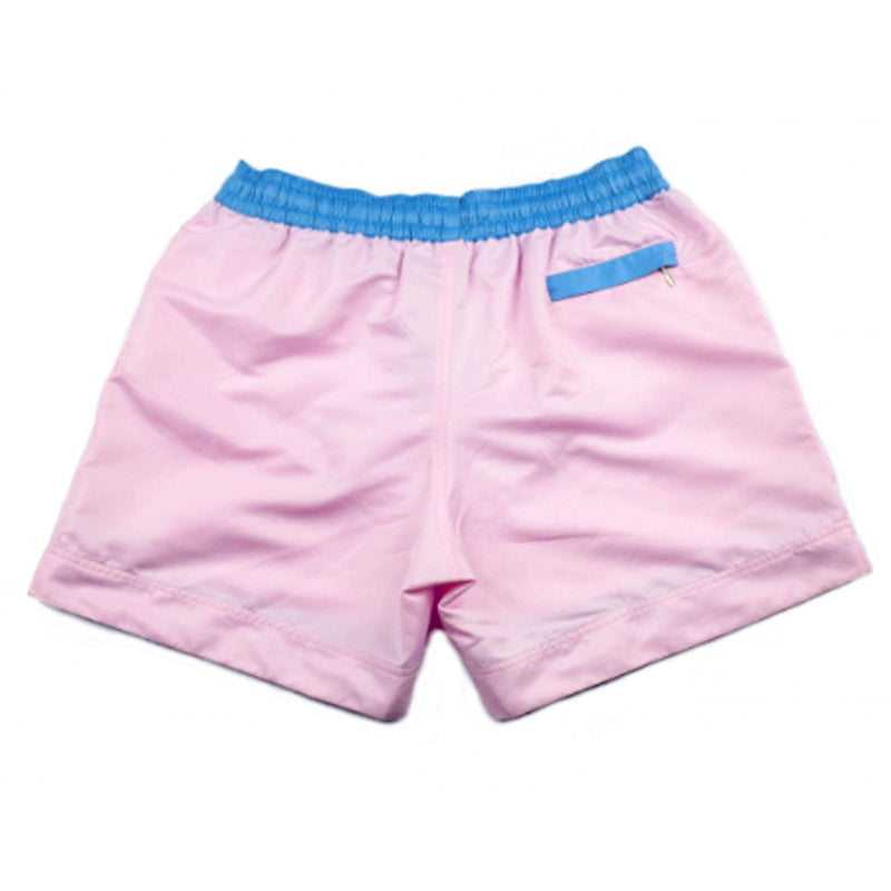 Our plain 'Miami' shorts in a light pink design. The 'Luca' fit features our signature Thomas Royall blue waistband with a relaxed day to night fit.