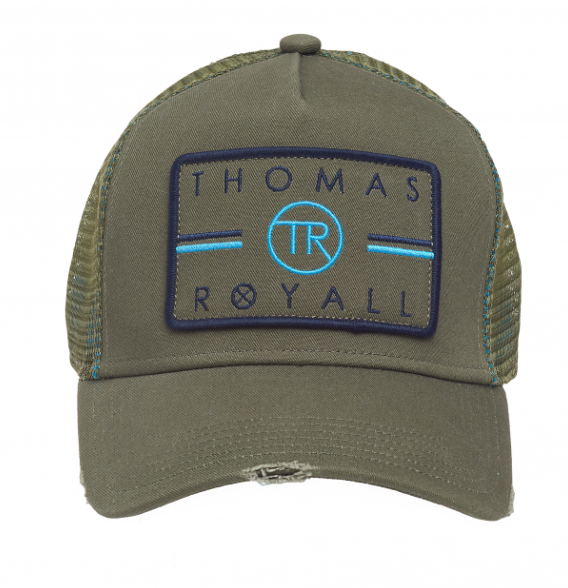 Thomas Royall Distressed Khaki Trucker