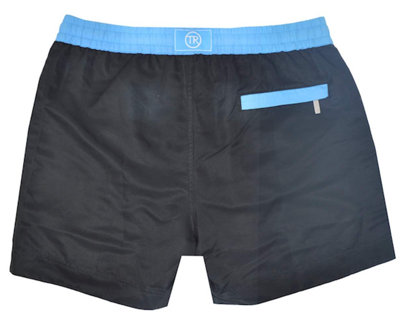 Jet Black Luca Mid Length Mens Swim Shorts