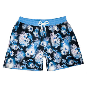 Our photographic 'Spain' kids shorts featuring a 3D floral design.