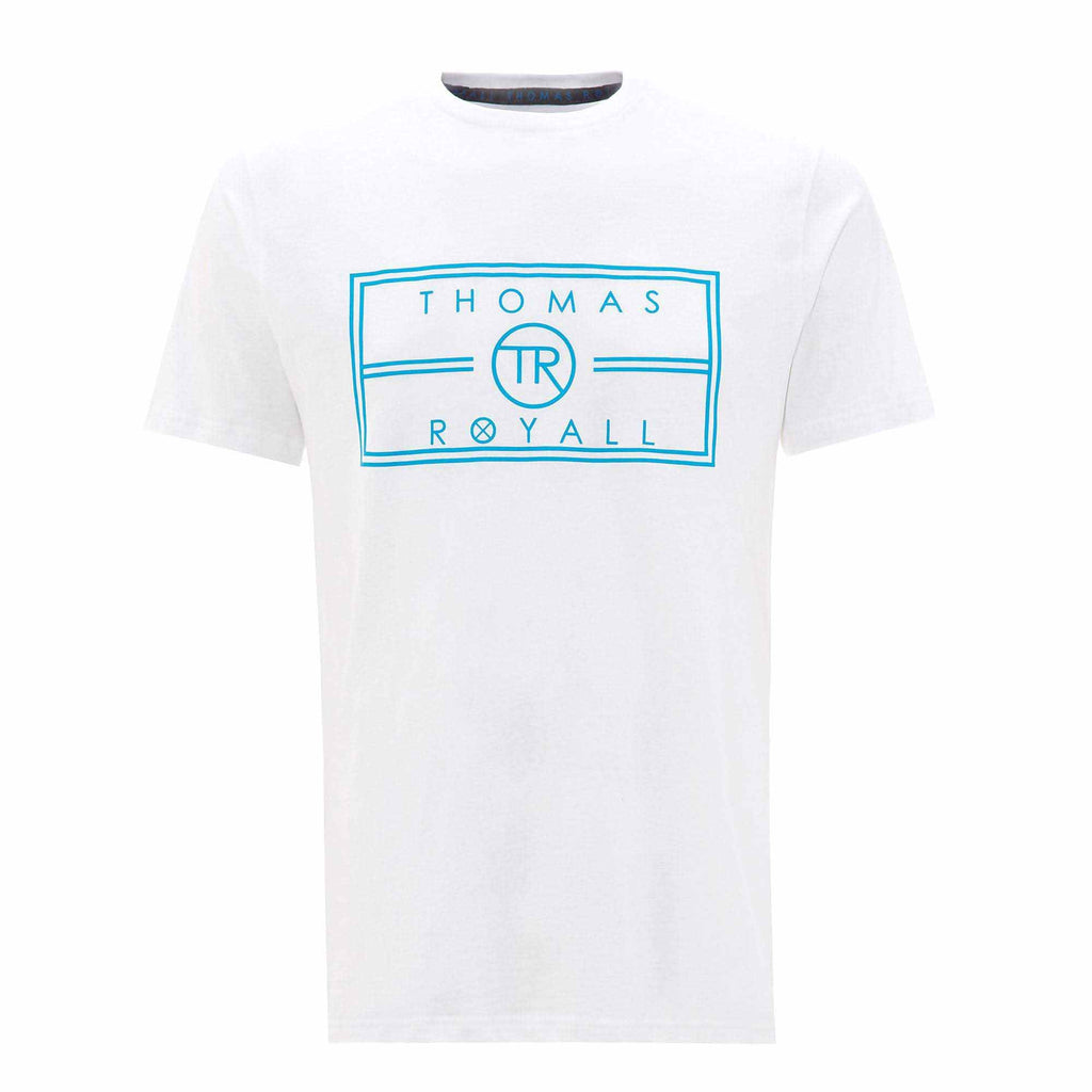 Our White TR logo T-shirt has been hand crafted from pure cotton for a comfortable and cool feel.