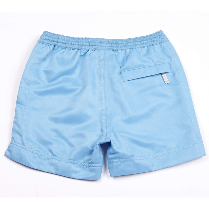 Our 'TR Blue' kids shorts in our branded blue colour.
