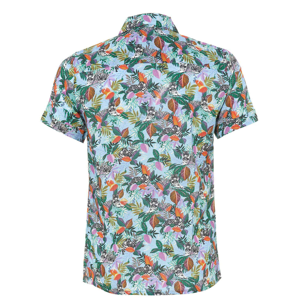 The Tiger Jungle shirt it designed to ensure you stand out from the crown from poolside to beach bar.