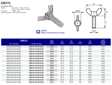 AM316 Wing Screw (American Type)