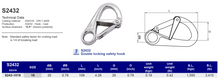 S2432 Double locking safety hook