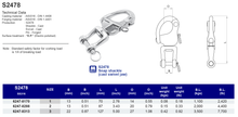 S2478 Snap shackle (cast swivel jaw)