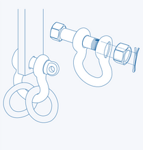 S2711BB Oversize anchor shackle (nut and cotter pin)