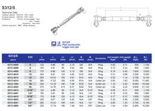 S312-5 Pipe Turnbuckle Toggle and Jaw