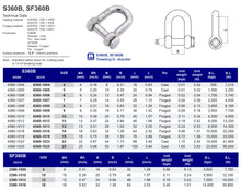 S360B D-Shackle (square head pin)