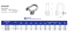 SF361RF Sheet Shackle (flat screw pin)