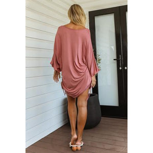 Sian Bamboo Kaftan - Dusty Rose