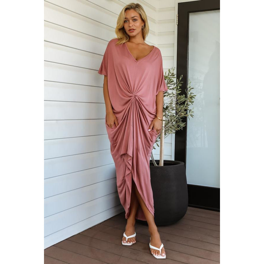 Emmy Bamboo Kaftan - Dusty Rose