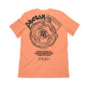 back graphic of dragon energy tee in orange