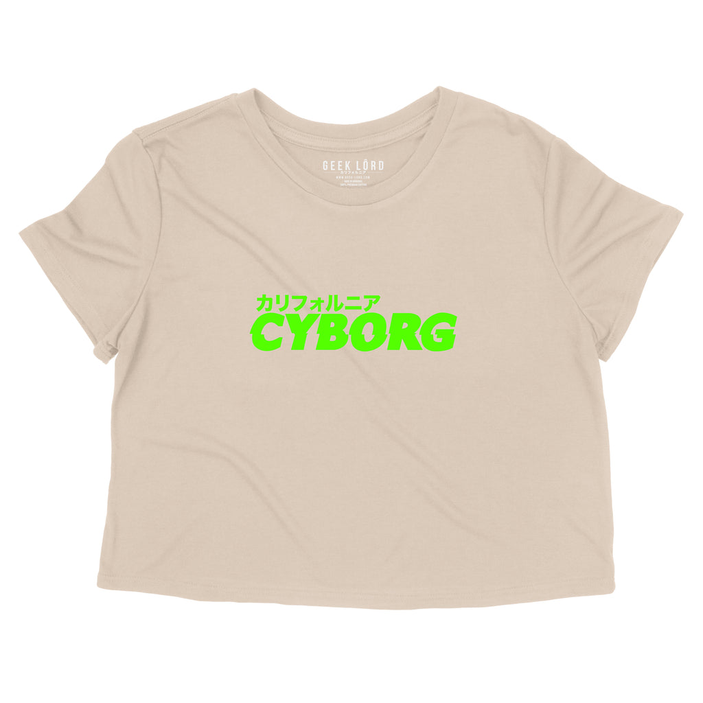 geek lord neon green cyber punk cyborg android mecha crop top anime clothing anime streetwear