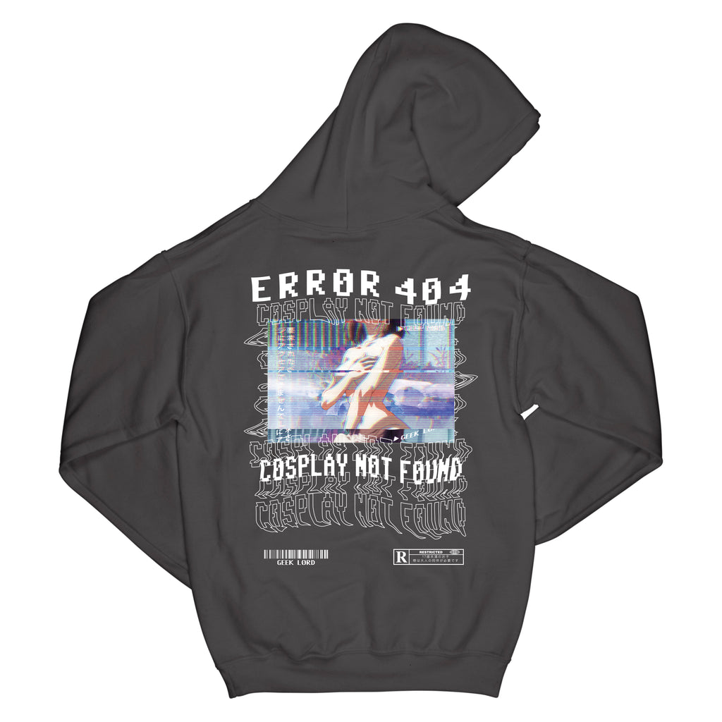 geek lord error 404 cosplay not found anime shirt hoodie manga japan japanese streetwear street wear black mens womens unisex