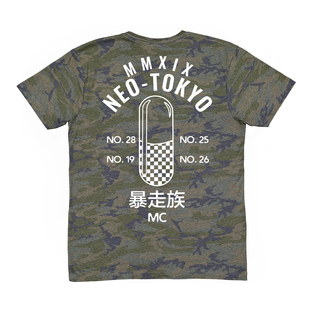 Geek Lord Neo Tokyo Capsule Military Camo Camofluage Anime shirt anime clothing capsules pill checkers 2019 camo