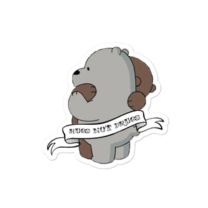 Hugs not Drugs Bubble-free stickers