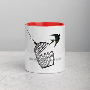 How free do you want to be - Mug with Color Inside