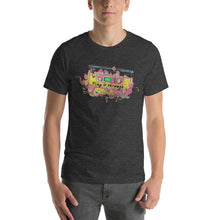 Load image into Gallery viewer, Play it through HEATHER Short-Sleeve Unisex T-Shirt
