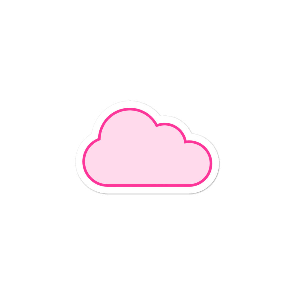 Pink Cloud Bubble-free stickers