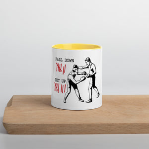 Fall down 7 times, get up 8 - Mug with Color Inside