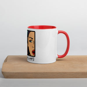 Fear is a liar - Mug with Color Inside