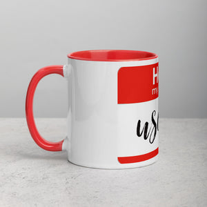 Hello Mug with Color Inside