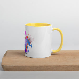 Don't leave before the miracle happens Mug with Color Inside
