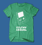 Filthy Casual Gameboy Green Men's/Unisex T-Shirt