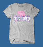 Peppa Pig Thrasher Parody Men's/Unisex T-Shirt in Grey
