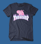 Peppa Pig Thrasher Parody Men's/Unisex T-Shirt in Navy