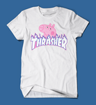Peppa Pig Thrasher Parody Men's/Unisex T-Shirt in White