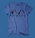 Iconic Horror Movie Villains Friends Parody Men's/Unisex T-Shirt in Blue