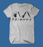 Iconic Horror Movie Villains Friends Parody Men's/Unisex T-Shirt in Grey